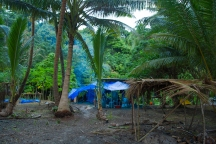 """""""Once we arrived on Nukubalavu, we had to begin setting up our campsite that would be our home for the following weeks"""" Alea Rouse"""