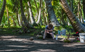 """""""Fiji is beautiful. And you are lucky to be there. But the NSF REU Fiji Program is no vacation,"""" Christel Carlisle"""