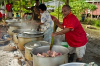 """""""In Nasinu we were able to see the entire village involved in preparations for a feast."""" Kelly Ledford, one of the 2013 Fellows"""