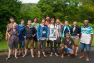 """""""The participants of the 2013 REU fellows consisted of nine undergraduate students, one graduate field assistant, one documentary filmmaker, one photographer/scientific correspondent, one Fiji Museum officer, one field assistant/local informant, and of course the project principal investigator,"""" Jerred Schafer"""
