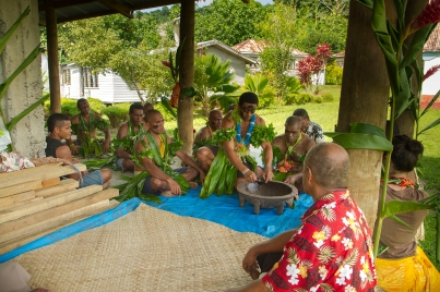 """Kava is a very mild narcotic that is consumed during Fijian ceremonies. To some Westerners, it tastes like dirt. But even with this taste when drinking kava you feel as if you're part of the culture."" Kendra Hein, 2014 Fellow"