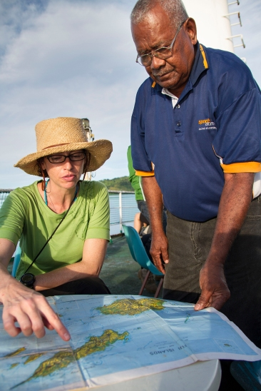 """""""The journey to Fiji was a long process that consisted of long flights, ferries, buses, and all of that followed by more boat rides."""" Alea Rouse, 2013 Fellow, describes the commute from Birmingham AL to the site"""